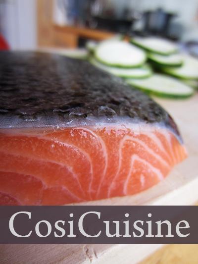 recette p tes au saumon et courgettes. Black Bedroom Furniture Sets. Home Design Ideas